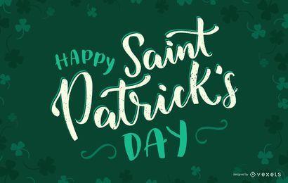 Saudação feliz do dia de Patrick de Saint