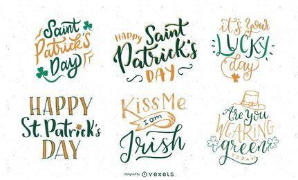 Conjunto de letras do dia de São Patrício