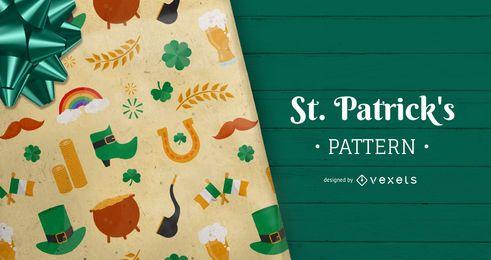Padrão de elementos do dia de Saint Patrick