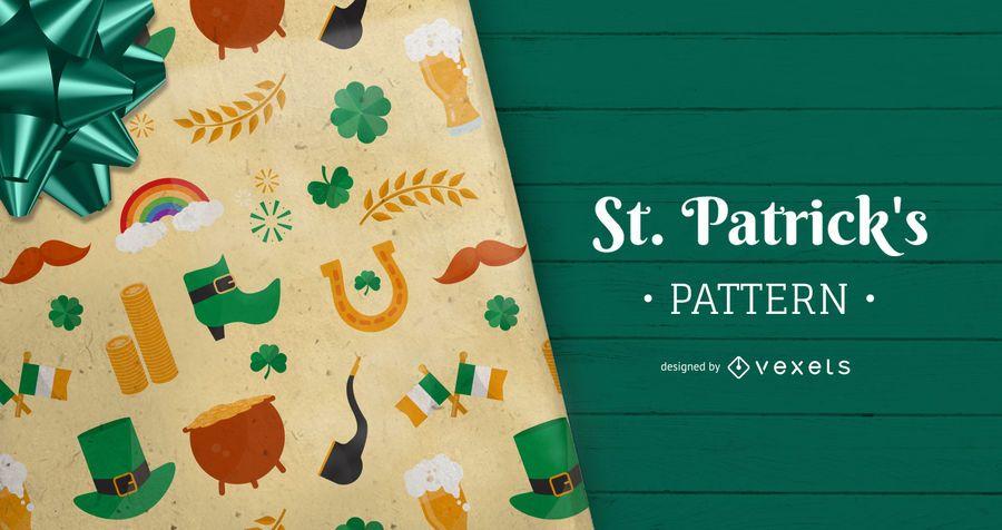Patrón de elementos del día de San Patricio