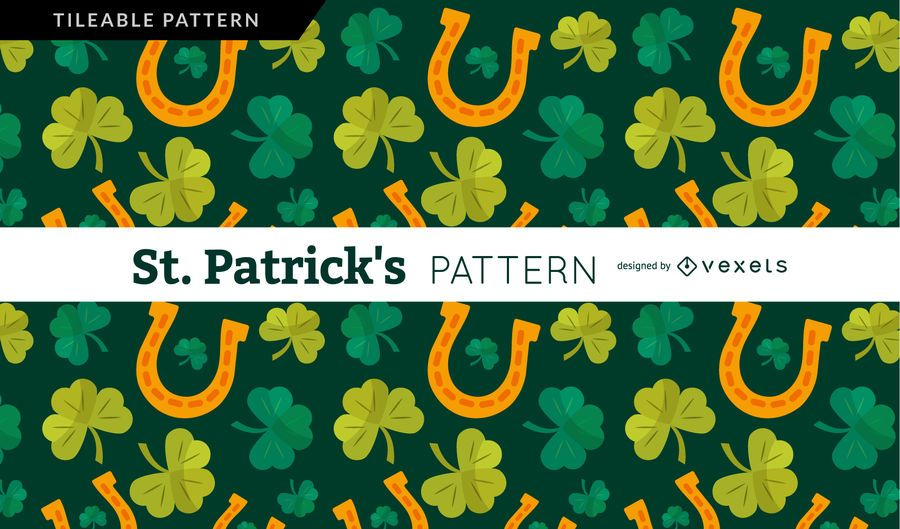 Shamrock and horseshoe pattern