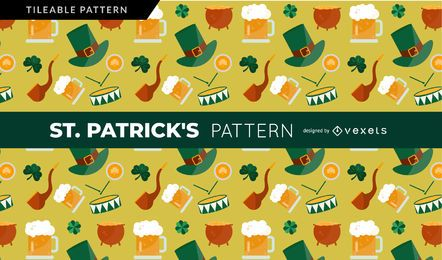 Saint Patrick's Elements Pattern
