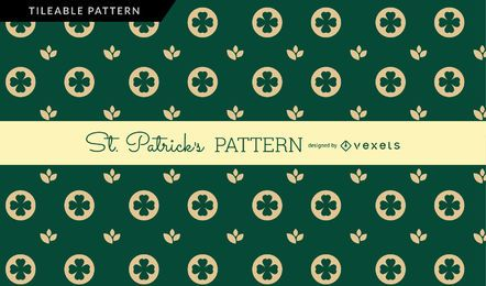 Dunkelgrünes St Patrick Muster