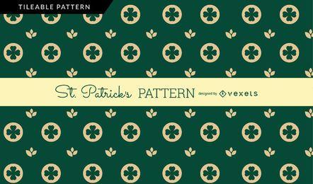Padrão de St Patrick verde escuro