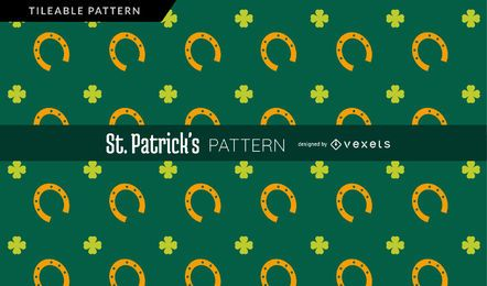 Four leaf clover and horseshoe pattern
