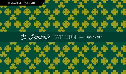 Diseño de patrón de tréboles verdes