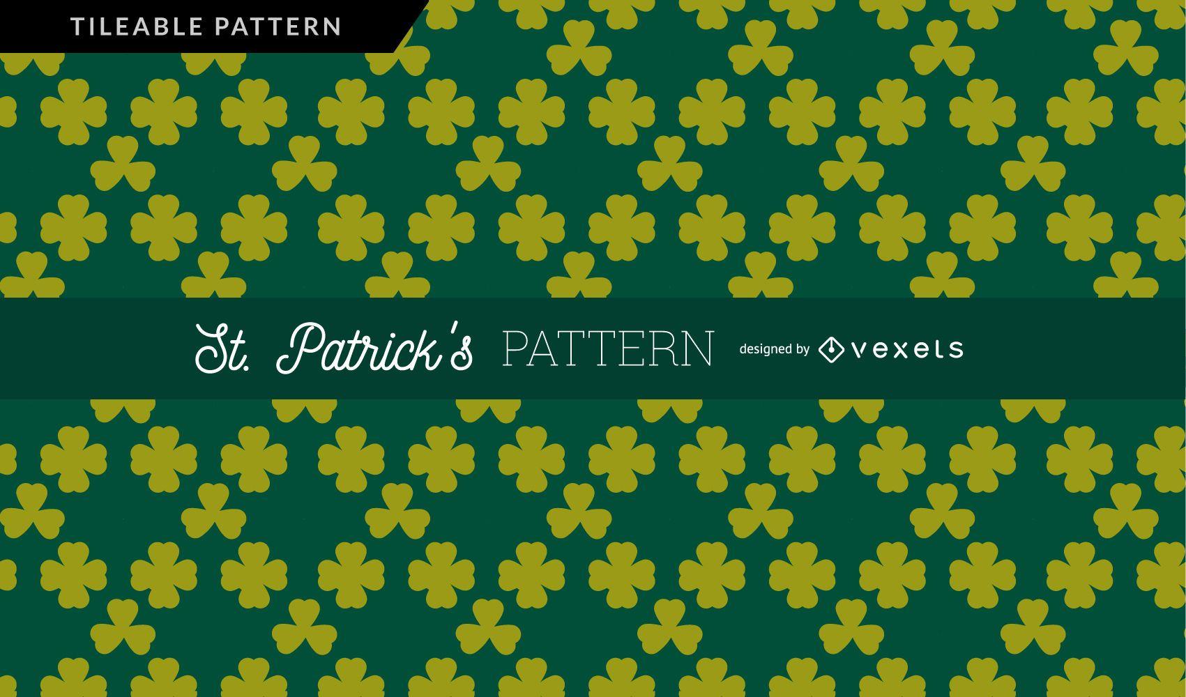 Green Clovers Pattern Design