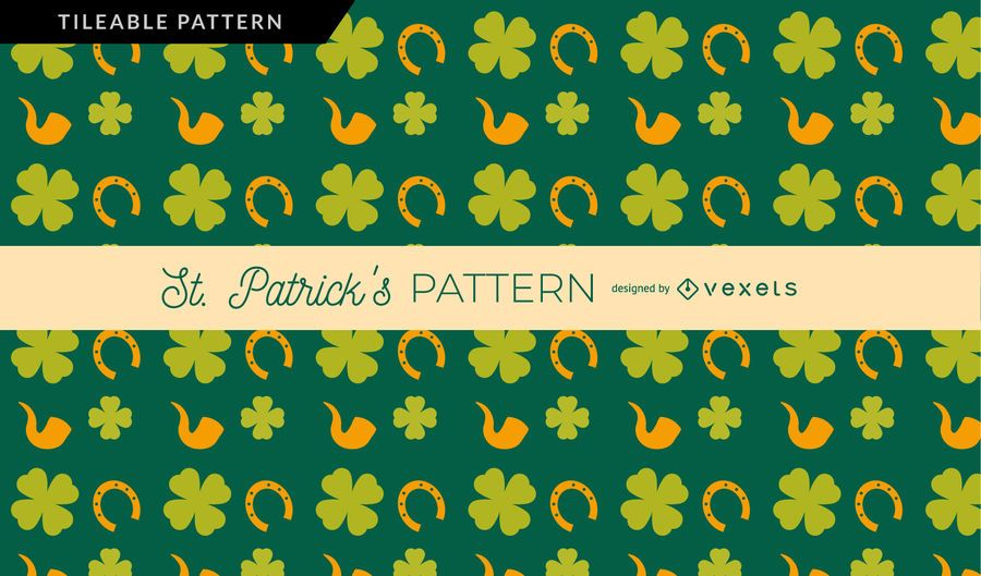 Clover Horseshoe and Pipe pattern