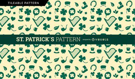 Diseño de patrón de San Patricio