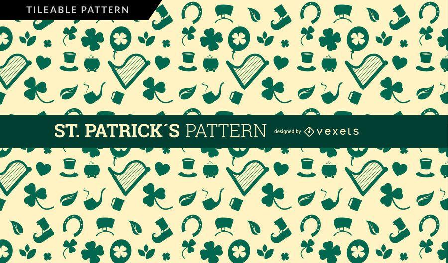 Diseño del patrón de San Patricio