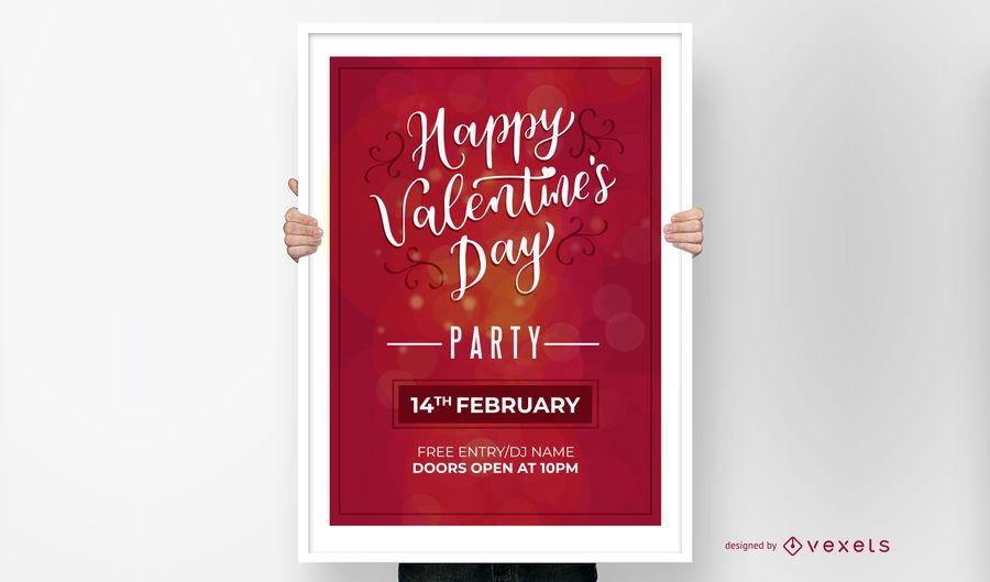 Happy Valentine's Day Party Invitation