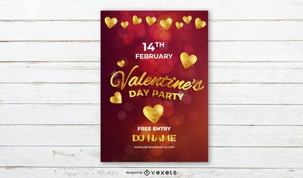 Partei-Fahnendesign des Valentinstags