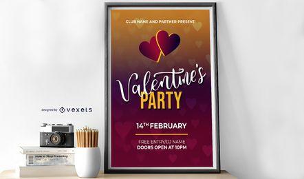 Plantilla de diseño de fiesta de San Valentín