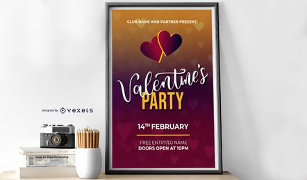 Valentine's Party Design Template