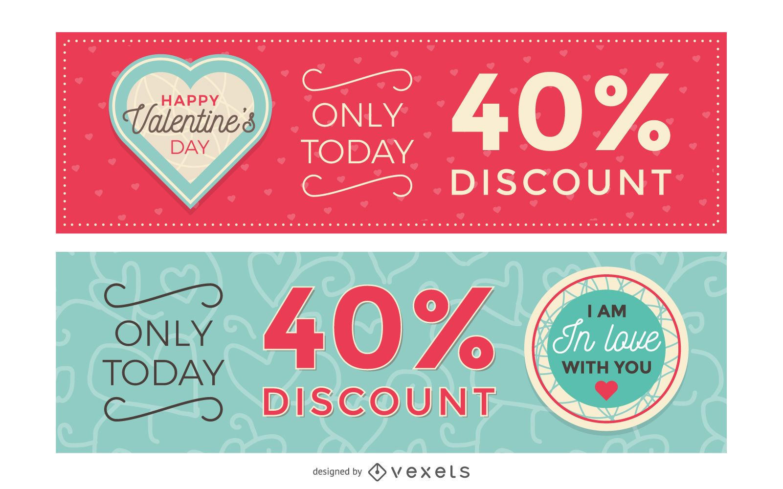 Valentine Discount Banners