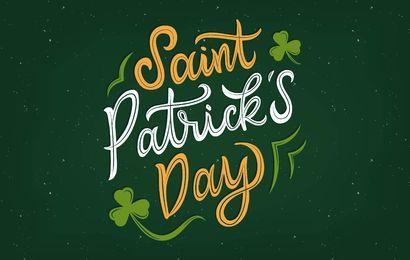 St. Patrick's Day Schriftzug Design