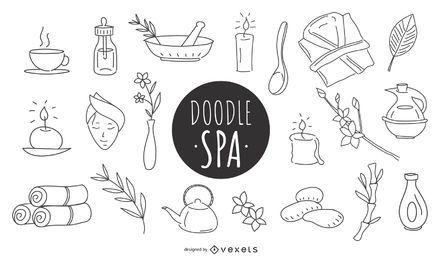 Conjunto de ícones do Doodle Spa
