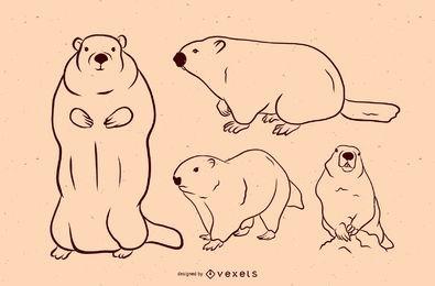 Conjunto de vectores de la marmota