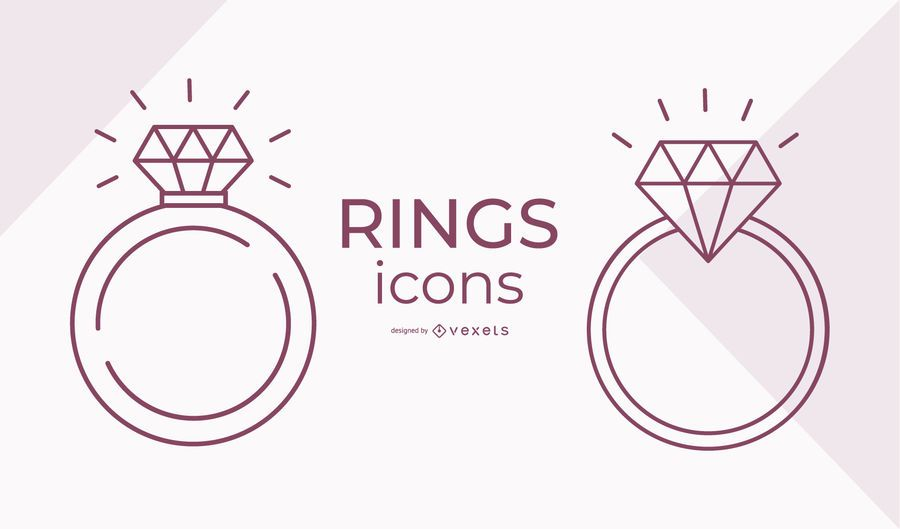 Stroke Ring Icon Set