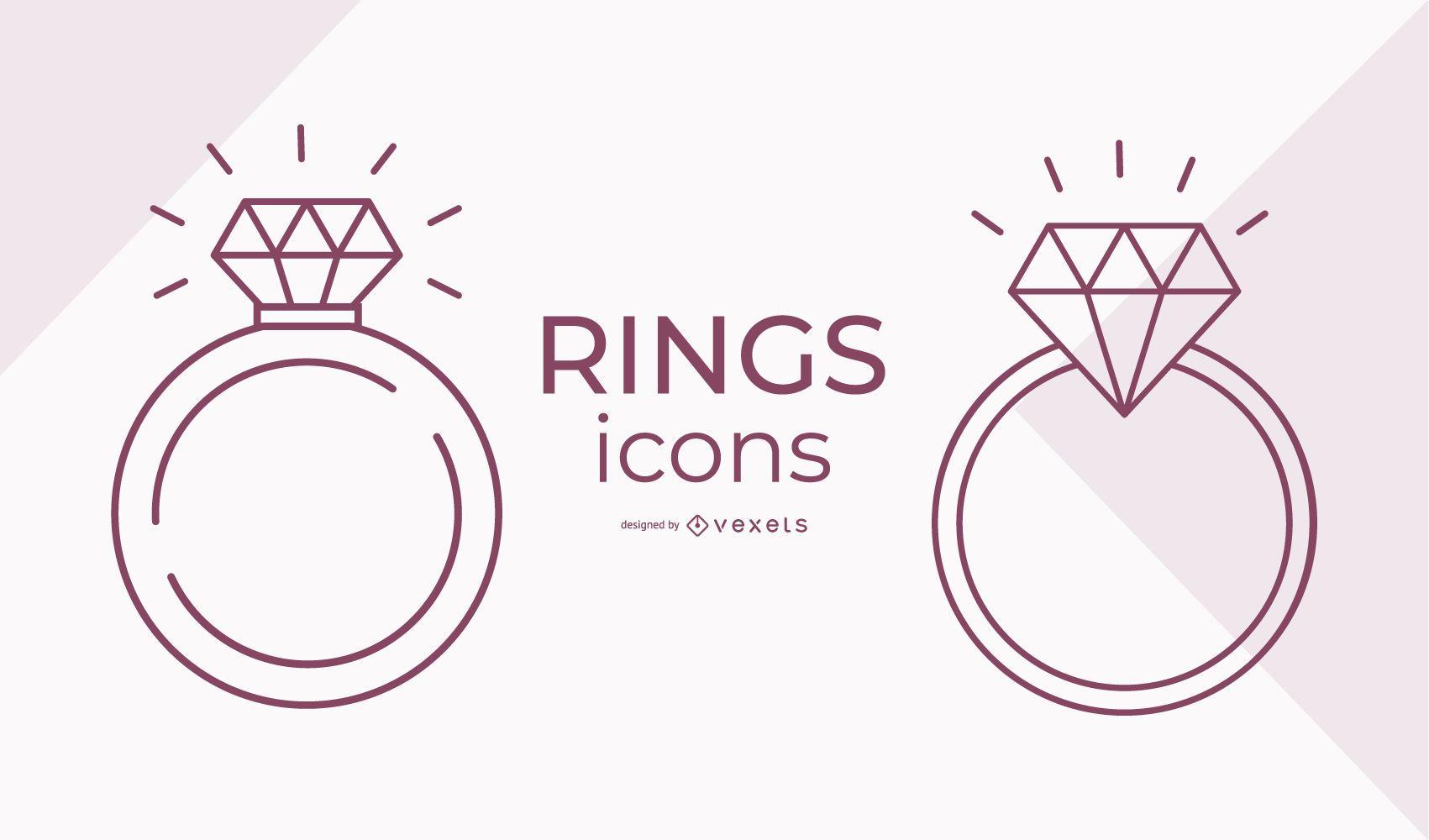 Stroke Ring Icon Set