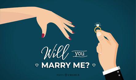¿Quieres casarte conmigo ilustración