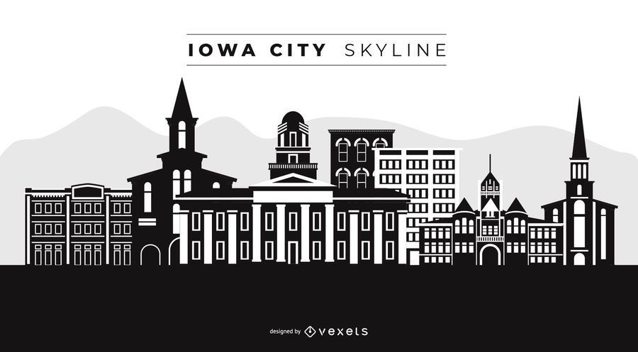 Iowa City Skyline Design