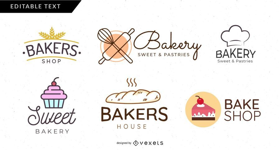 Bäckerei-Logo gesetzt