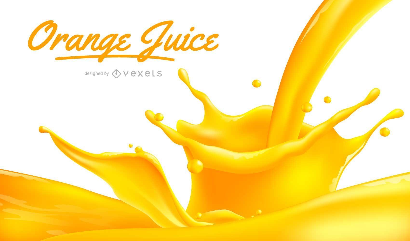 Diseño de jugo de naranja