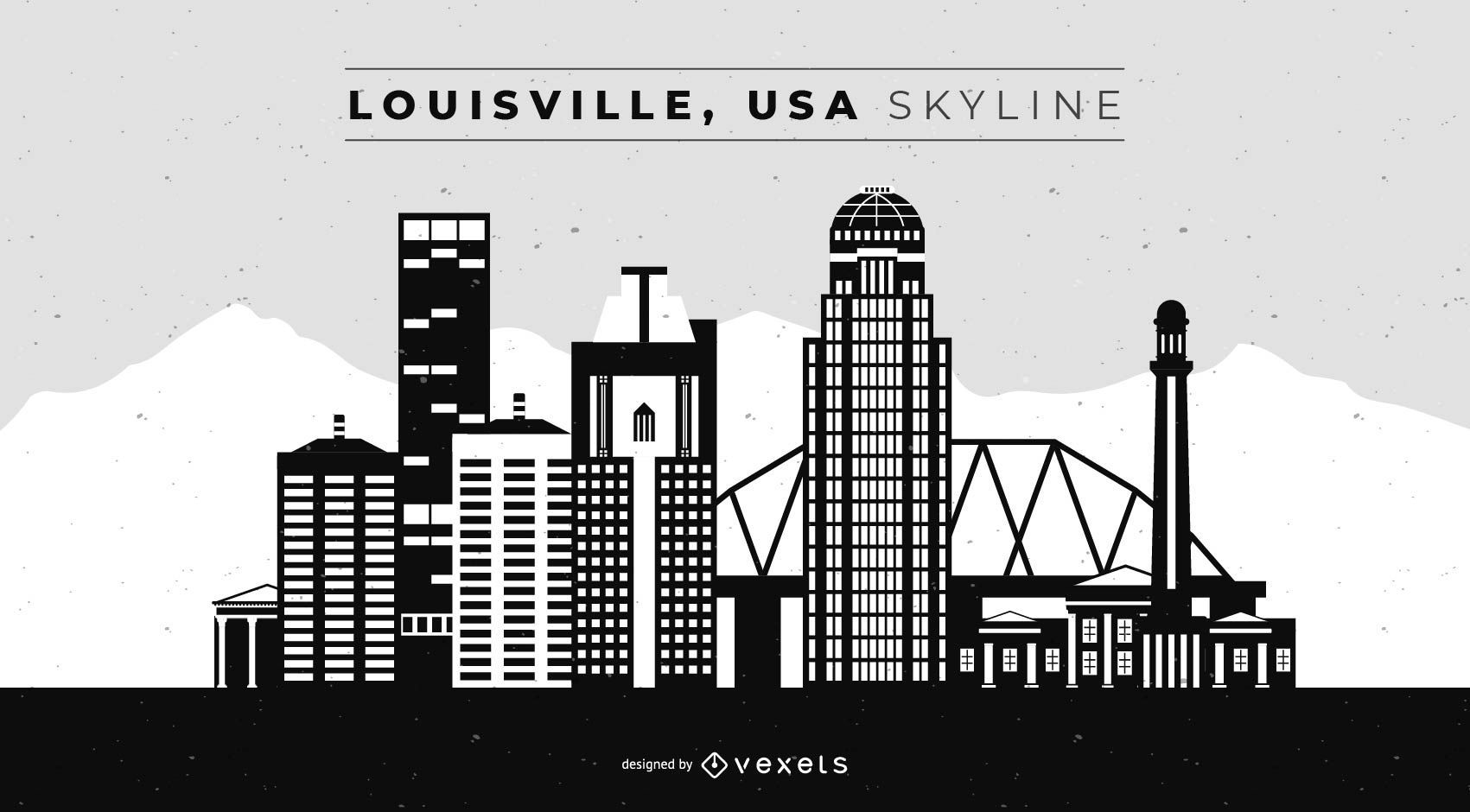 Louisville USA Skyline Design