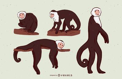 Cenografia de ilustração de macaco