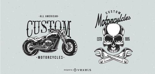 Klassische Motorrad-Abzeichen