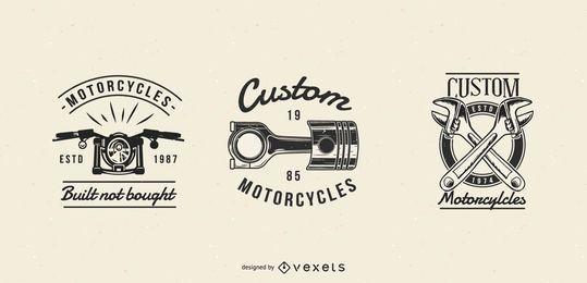 Conjunto de distintivos de motocicleta vintage