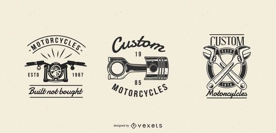 Vintage Motorcycle Badge Set