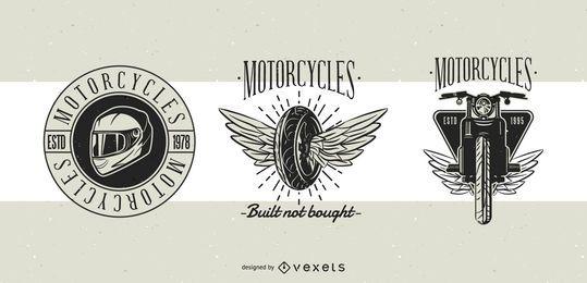 Diseño de insignias clásicas de motocicleta