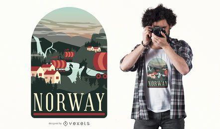 Diseño de camiseta de Noruega