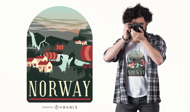 Norway T-Shirt Design