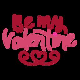 Seien Sie mein Valentinsgrußnachrichtendesign