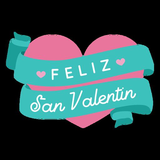 Feliz san valentin valentine greeting Transparent PNG