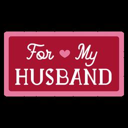 Para meu projeto de dedicação do marido