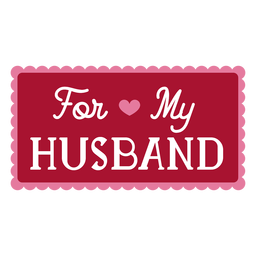 Para mi esposo diseño de dedicación.