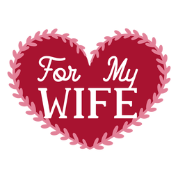 For my wife dedication design