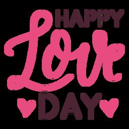 Diseño de mensaje de feliz día de amor