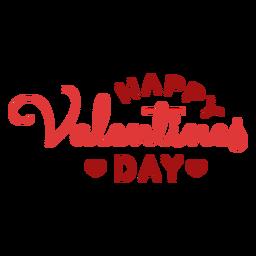 Feliz día de San Valentín saludo diseño