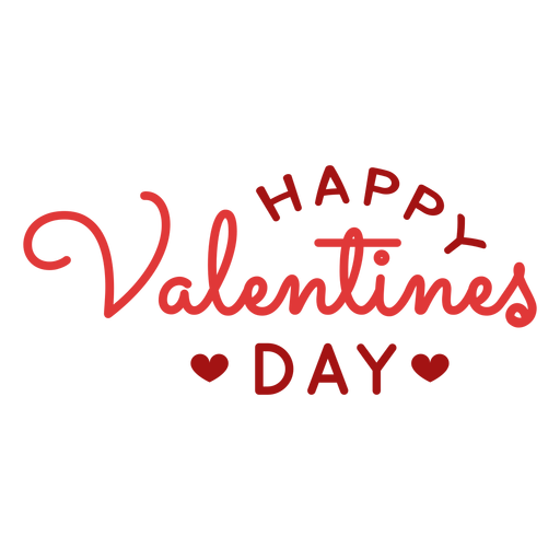 Happy valentines day greeting design Transparent PNG