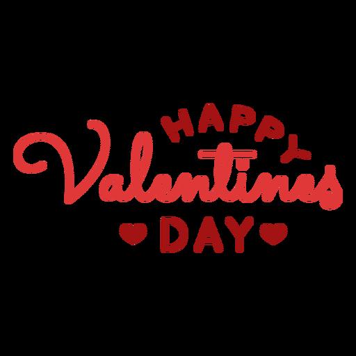 Happy Valentinstag Gruß Design Transparent PNG