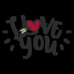 Ich liebe dich Nachricht Schriftzug