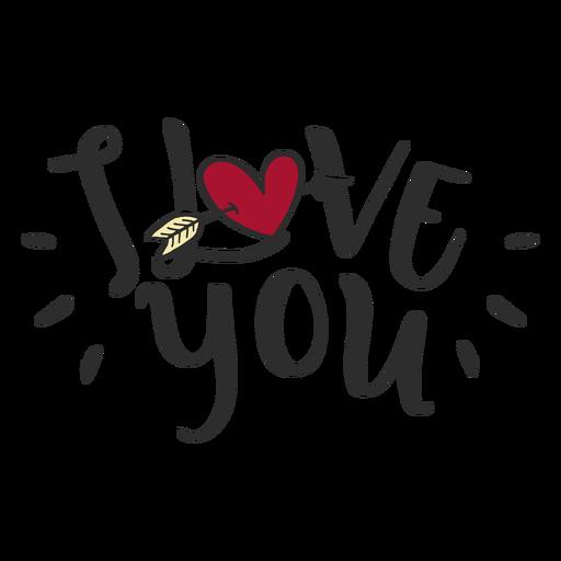 Eu te amo letras de mensagem Transparent PNG