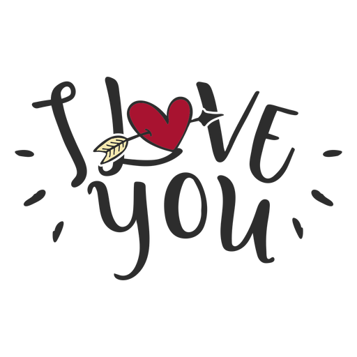 I love you message lettering