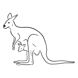 Känguru und Joey-Skizze
