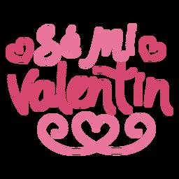 Se mi valentin lettering design